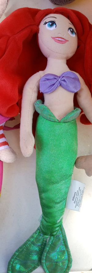 Little mermaid under the sea Ariel Disney plushie stuffed animal for Sale in Chicago, IL