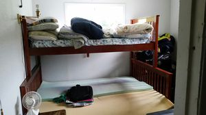 Bunk beds, new. Wood frame and mattresses for Sale in Aberdeen, WA