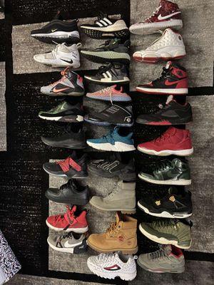 Lots of shoes Jordan, Nike, Adidas, timberland, Lebron, Paul George, air force, Air max, Bape for Sale in Portland, OR