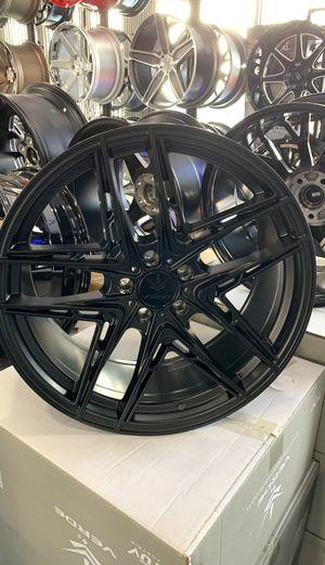 20x9 Verde V12 Incise Satin Black RIMS ONLY 5x114.3 for Sale in La Habra, CA