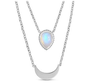 Sterling Silver Moonstone Necklace for Sale in Miami, FL