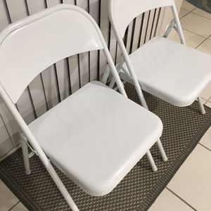 White Metal Folding Chairs for Sale in Pompano Beach, FL