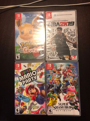 4 Nintendo Switch games for Sale in Lemon Grove, CA