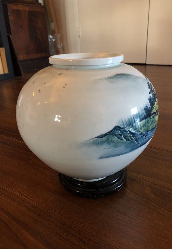 Vintage Large Korean Porcelain Vase