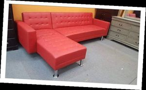 New Red Futon Sectional Sofa for Sale in Austin, TX