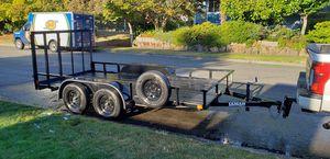 2017 14' x 7' utility trailer w/ ramp 3998 GVRW for Sale in Renton, WA