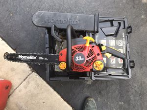 Homelite Chainsaw 33cc runs great used very little for Sale in Plainfield, IL