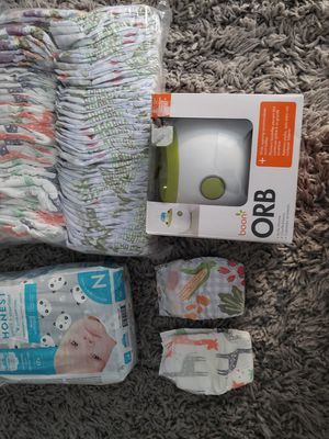Honest co Newborn diapers(88) total and bottle warmer for Sale in San Jose, CA