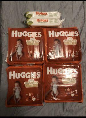 Huggies snugglers bundle size 1 for Sale in Whittier, CA