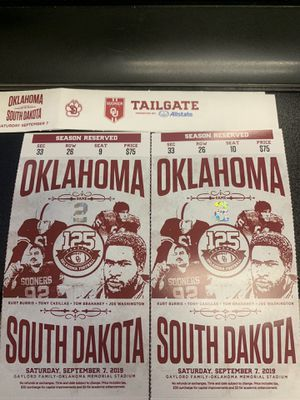 OU vs South Dakota for Sale in Broken Arrow, OK
