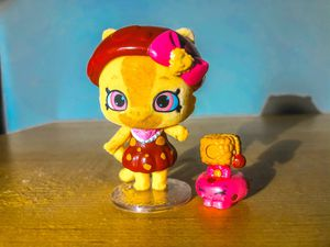 Shopkins petkins doll cat cookie with exclusive shopkin for Sale in Raleigh, NC