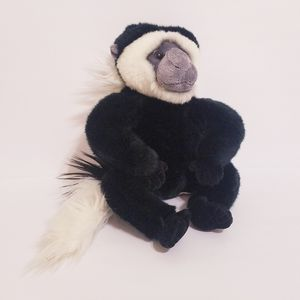 "Aurora COLOBUS Monkey Black & White Plush 12"" Stuffed Animal Toy Gray Chimp Ape for Sale in La Grange Park, IL"