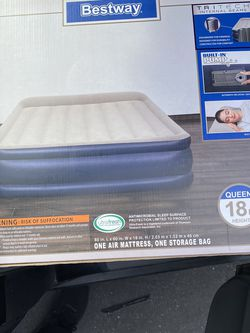 Best way 18in Queen One Air Mattress for Sale in Moreno Valley,  CA