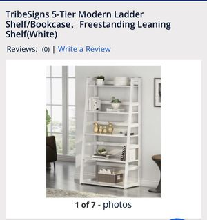 Modern ladder shelf/bookcase - brand new in the box for Sale in Ontario, CA