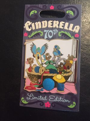 Disney Cinderella 70th anniversary mice and birds pin for Sale in Lakewood, CA