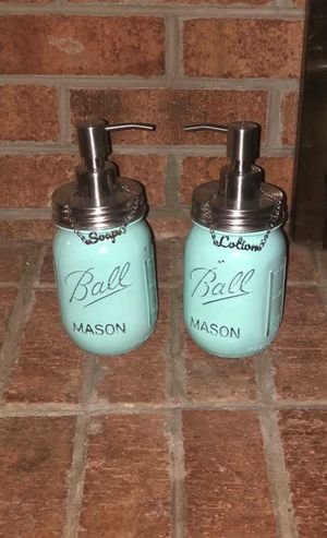 Shabby Chic Soap and Lotion Dispenser with labels for Sale in Virginia Beach, VA