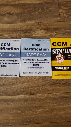 CCM study books for Sale in Raleigh, NC