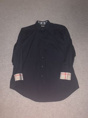 Burberry Brit men's XL black button up shirt for Sale in Portland, OR