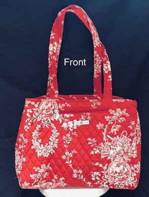 EUC! Quilted toile fabric tote bag for Sale in Falls Church, VA