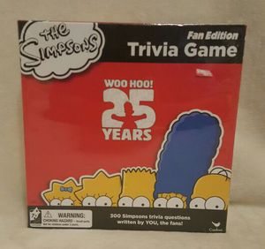 THE SIMPSONS 25TH ANNIVERSARY EDITION TRIVIA, NEW for Sale in Scottsdale, AZ