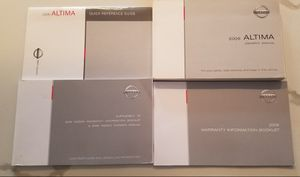 Free 2008 Nissan Altima Owners Manual for Sale in Poway, CA