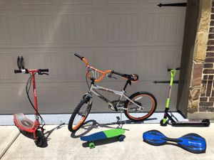 Pick up only - Scooters, bike and skateboards for Sale in Tomball, TX