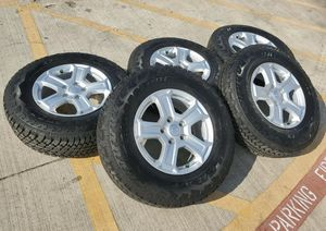 X5 BRAND NEW Jeep Wrangler 245/75R/17 Bridgestone Duler A/T Wheels and Tires for Sale in Largo, FL