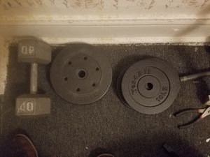 Weight plates and dumbell for Sale in Cleveland, OH