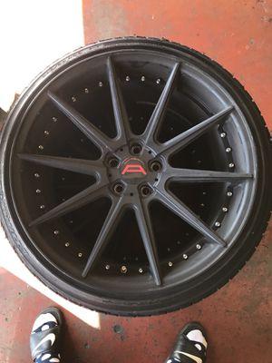 3 - Autobahn Coburg Blk Rims w/ 4 tires -5x114.3 for Sale in Corona, CA