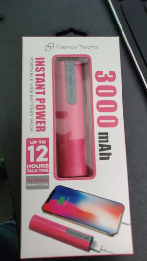 Pink portable charger for Sale in Silver Spring, MD