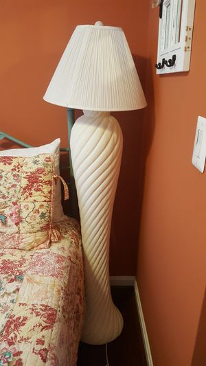 White floor lamp for Sale in Riva, MD