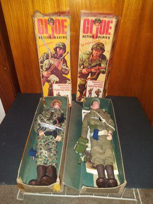 (2) 1964 GI Joe Figures Patent Pending w/ Box Accessories for Sale in Pulaski, TN