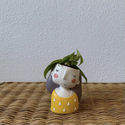 """Heart Leaf Philodendron w/ 2"""" Resin Girl Pot for Sale in Golden,  CO"""