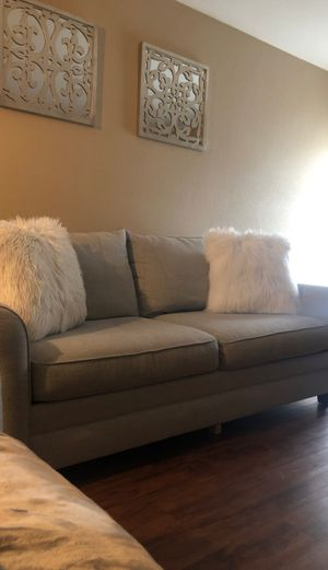 Basset light grey couch for Sale in Houston, TX