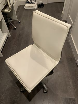 White leather desk chair (Price listed is per chair) for Sale in Redondo Beach, CA