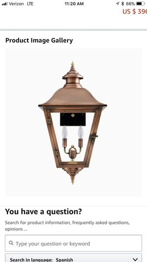 Primo exterior light fixtures for Sale in Richfield, OH