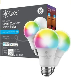 C by GE Direct Connect Light Bulbs (2 A19 LED Color Changing Light Bulbs), 60W Replacement - Full Color Model: 93128982 | SKU: 6425918 for Sale in Gaithersburg, MD