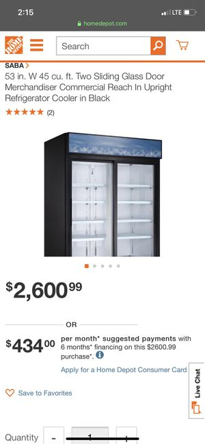 Saba air refrigerator for restaurant or connivance store supper market for Sale in Pembroke Pines, FL
