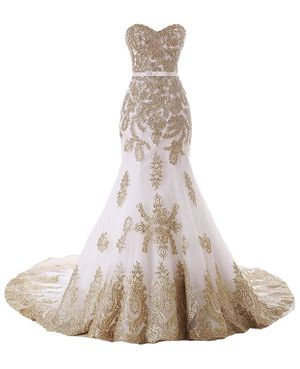 Ivory & Gold Wedding Gown, Size 12. $149 OBO for Sale in Fort Washington, MD