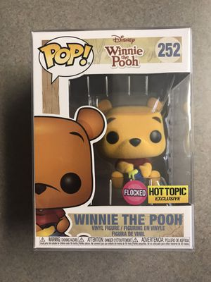 Flocked Winnie the Pooh Funko Pop Hot Topic Exclusive Disney 252 with protector MINT for Sale in Addison, TX