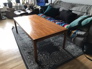 MCM teak coffee table, tall for Sale in Portland, OR