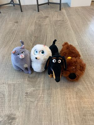 Secret Life of Pets plushies for Sale in Las Vegas, NV