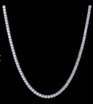 White Gold Plated Diamond Tennis Chain 5mm for Sale in Rancho Cucamonga, CA