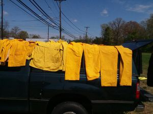 One rain jacket. Two pair pants for Sale in Fort Washington, MD