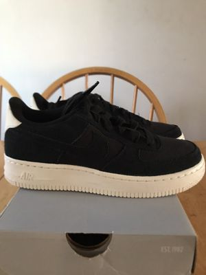 Brand new Nike Air Force One suede black shoes (youth 5y, women's 6.5) for Sale in La Mesa, CA