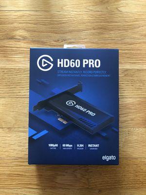 Elgato HD60 Pro Game Capture for Sale in Randolph, MA