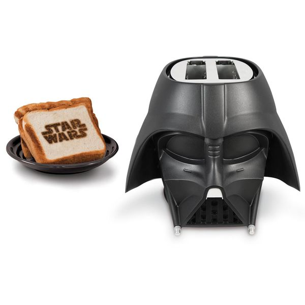 Darth Vader 2-Slice Black Toaster with Automatic Shut-Off and Crumb Tray
