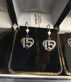 Quinceañera 14k white gold diamond earrings for Sale in Bakersfield, CA