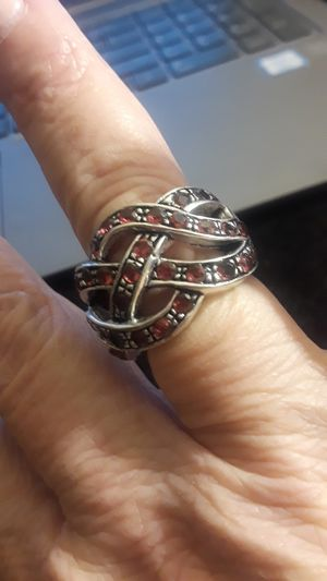 Real 925 Sterling & Pink Tourmaline Gemstone Ring Size 7.5 for Sale in Anaheim, CA