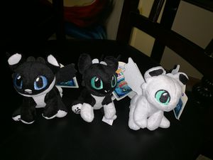Build A Bear Nightlights Set How to Train Your Dragon 3 Night Light Plush NWT for Sale in Chicago, IL